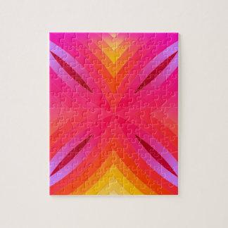 Pink geo' jigsaw puzzle