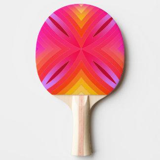Pink geo' ping pong paddle