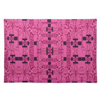 Pink Geometric Art Pattern Placemat