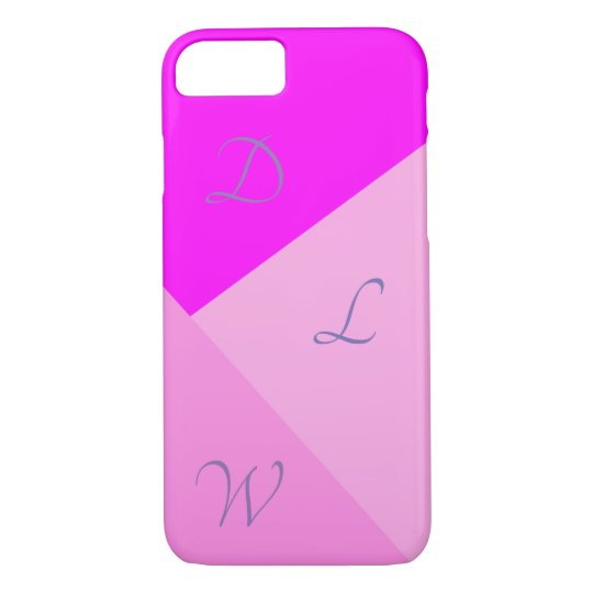 Pink Geometric | Initials iPhone 8/7 Case