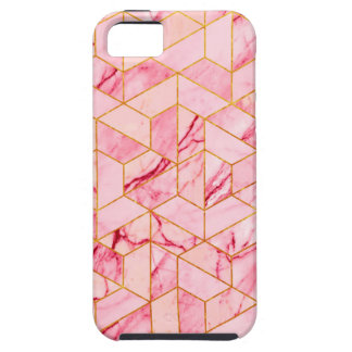 Pink geometric marble iPhone 5 case