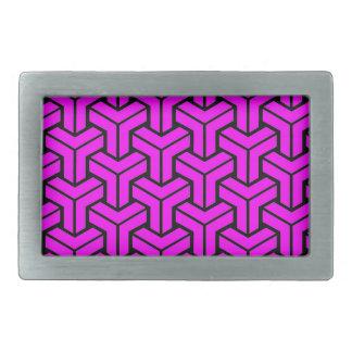 Pink Geometric Pattern Belt Buckle