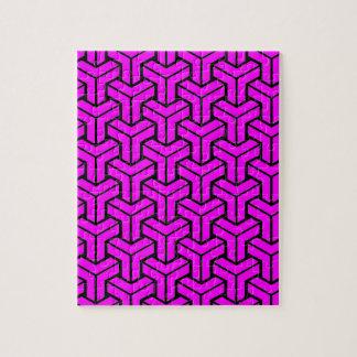 Pink Geometric Pattern Jigsaw Puzzle