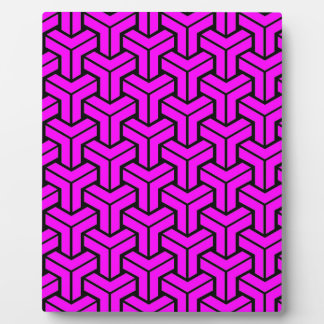 Pink Geometric Pattern Plaque