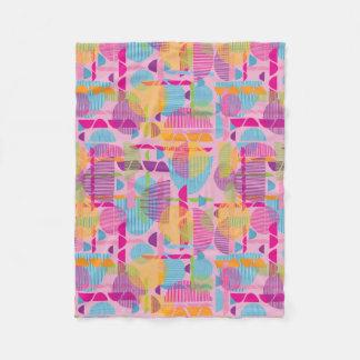 pink geometric shapes girls blanket