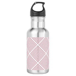 Pink Geometric Squares 532 Ml Water Bottle