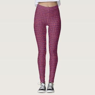 Pink Geometric Squares Leggings