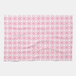 Pink Geometric Tea Towel