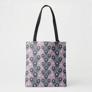 Pink Geometric Tote Bag
