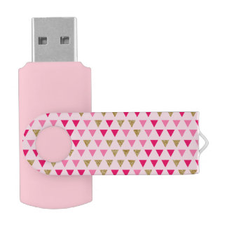 Pink geometric USB Flash Drive
