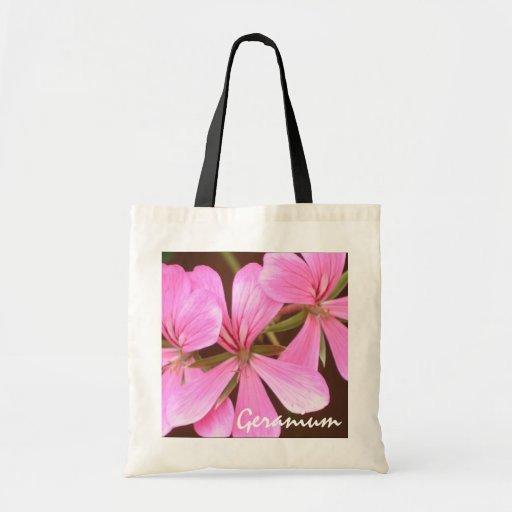 Pink Geranium Budget Bag