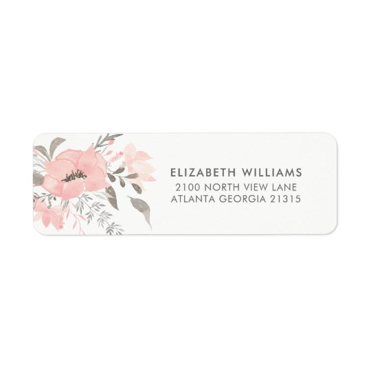 Pink Geranium Floral | Return Address