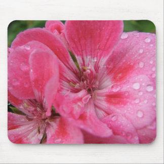 Pink Geranium Petals Mouse Mat