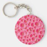 Pink Gerber Daisies Keychains
