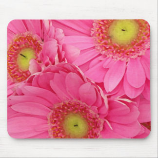 Pink Gerber Daisies Mouse Pad