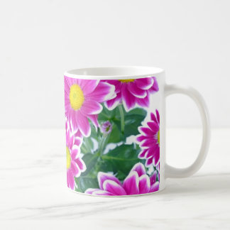 Pink Gerber Daisy Basic White Mug
