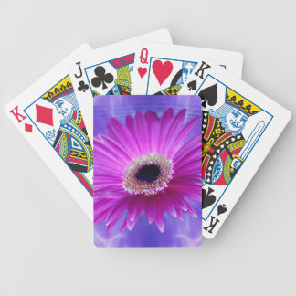 Pink Gerber Daisy Bicycle Playing Cards