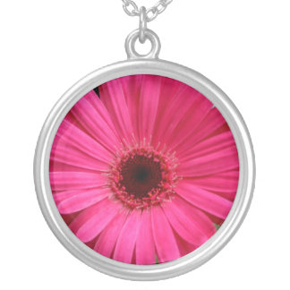Pink Gerber Daisy Necklace