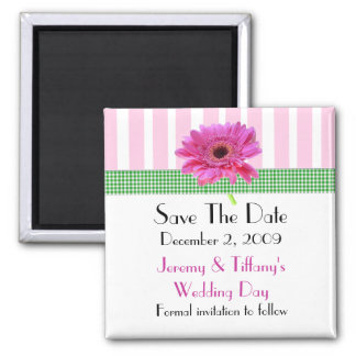 Pink Gerber Daisy Save the Date Magnet
