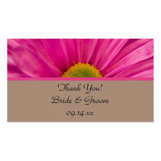 Pink Gerber Daisy Wedding Favor Tags Business Card Templates