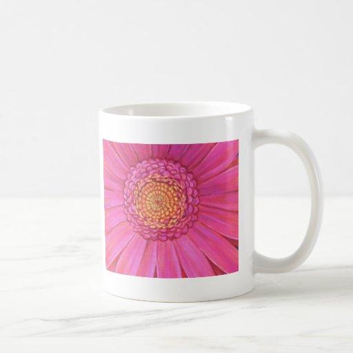 Pink Gerber Flower Painting - Multi Basic White Mug