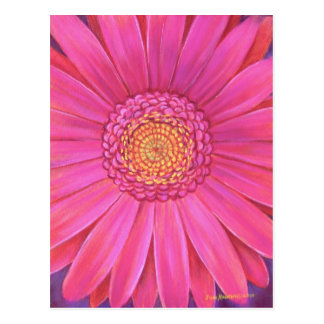Pink Gerber Flower Painting - Multi Post Card