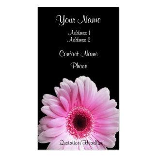 Pink Gerbera Business Cards