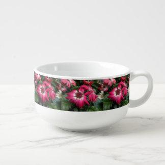 Pink Gerbera Daisies Soup Mug