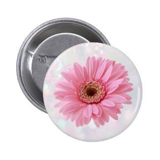 Pink Gerbera daisy Button