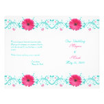 Pink Gerbera Daisy Floral Wedding Program