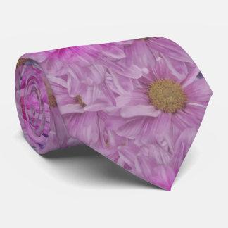 Pink Gerbera Daisy Flower Customizable Tie