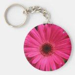 Pink Gerbera Daisy Keychain
