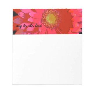 Pink Gerbera Daisy Notepad