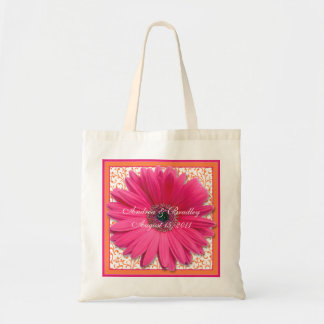 Pink Gerbera Daisy Orange Wedding Welcome Bag
