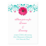 Pink Gerbera Daisy Reception Card Pack Of Chubby Business Cards