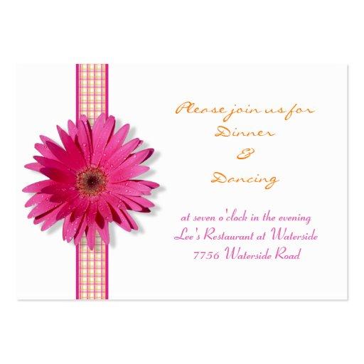 Pink Gerbera Daisy Reception Card Business Card
