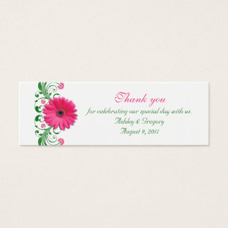 Pink Gerbera Daisy Special Occasion Favor Tags