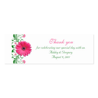Pink Gerbera Daisy Special Occasion Favor Tags Business Card Templates