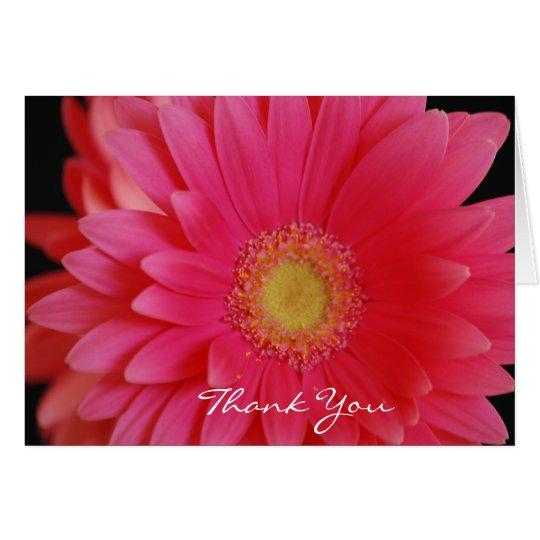 Pink Gerbera Daisy Thank You  Card