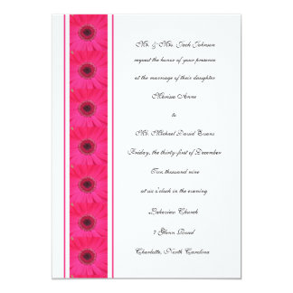 Pink Gerbera Daisy Wedding Invitation