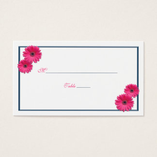 Pink Gerbera Daisy Wedding Place Cards