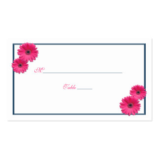 Pink Gerbera Daisy Wedding Place Cards Business Cards
