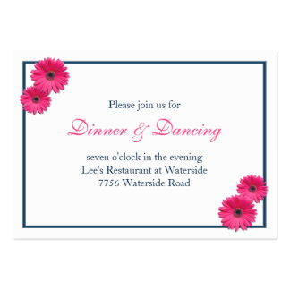 Pink Gerbera Daisy Wedding Reception Card Pack Of Chubby Business Cards
