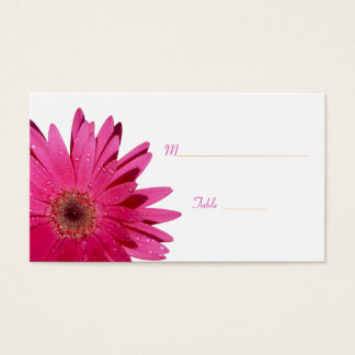Pink Gerbera Daisy White Place Card