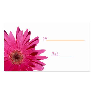 Pink Gerbera Daisy White Place Card Pack Of Standard Business Cards