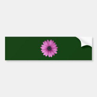 Pink Gerbera flower Bumper Sticker