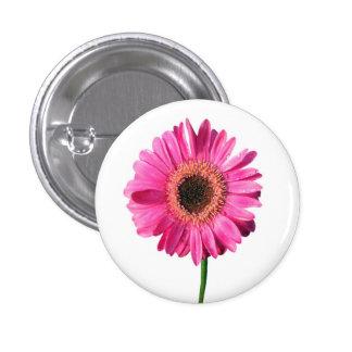 Pink Gerbera Flower Button / Badge
