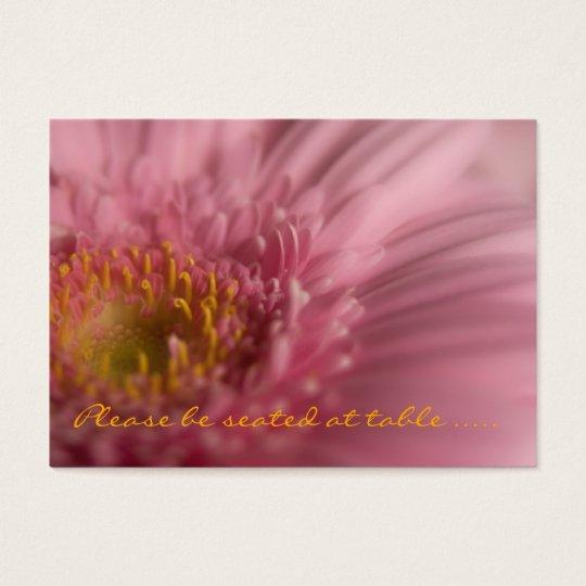 Pink Gerbera • Guest Seating Mini Card