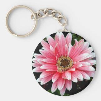 Pink Gerbera Key Ring