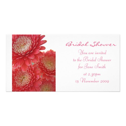 Pink Gerberas - Bridal Shower /Wedding Invitation Photo Greeting Card